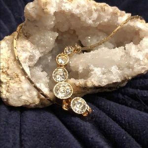 Jewelry - Crystal Stone Gold Adjustable Bracelet